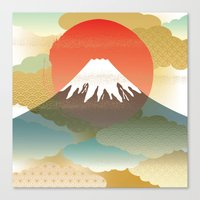 japan Canvas Prints featuring JAPAN by rie_lalala