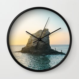 Rock in the sea 2 Wall Clock