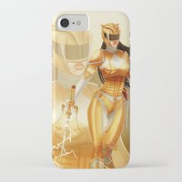 power ranger iPhone & iPod Cases featuring Yellow Ranger by Isaiah K. Stephens