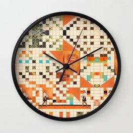 Orange poem Wall Clock