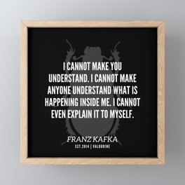 10 |  Franz Kafka Quotes | 190517 Framed Mini Art Print