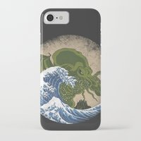 hokusai iPhone & iPod Cases featuring Hokusai Cthulhu by Marco Mottura - Mdk7