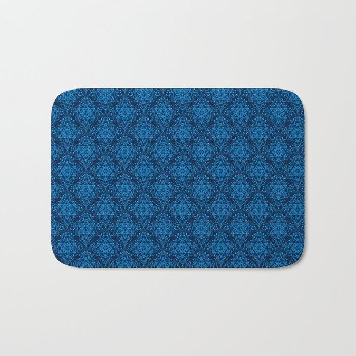 Metatron's Cube Damask Pattern Bath Mat