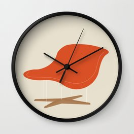 Orange La Chaise Chair by Charles & Ray Eames Wall Clock