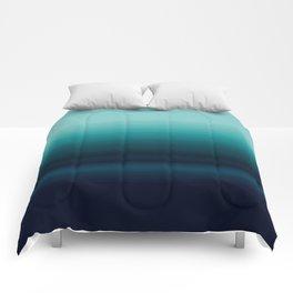 Teal to Indigo Ombre Design Comforters