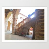 Bicycling in Florence, Italy Art Print