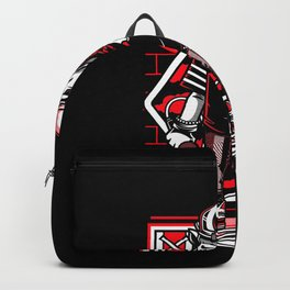 Rapper With Microphone And Basecap Gift Motif Backpack