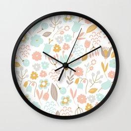 Cute flower pattern Wall Clock