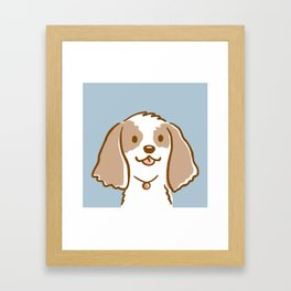 Cocker Spaniel Cartoon Dog Framed Art Print