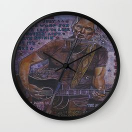 Kris Kristofferson Wall Clock