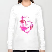 monroe Long Sleeve T-shirts featuring Monroe by Laura Maria Designs