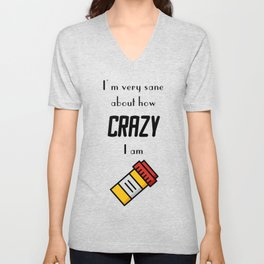 Carrie Fisher Crazy Quote Unisex V-Neck