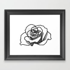 The outline of a Rose Framed Art Print