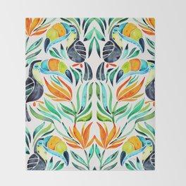 Tropical Toucans Throw Blanket