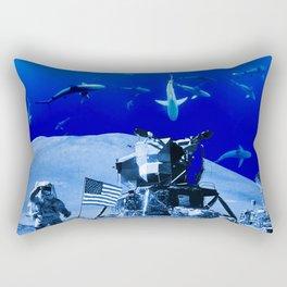 Something Strange on the Moon Rectangular Pillow