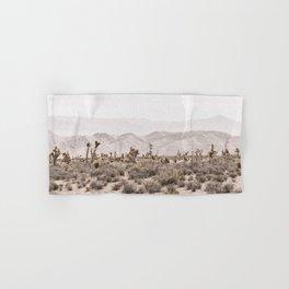 Sierra Nevada Mojave // Desert Landscape Blush Cactus Mountain Range Las Vegas Photography Hand & Bath Towel
