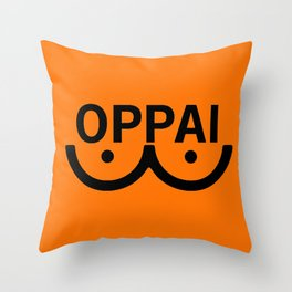 oppai Throw Pillow