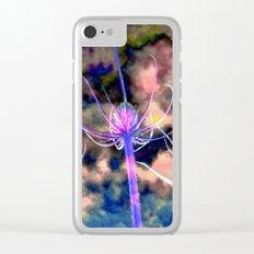 Floral Cloud Drama Clear iPhone Case