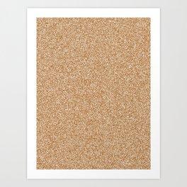 Melange - White and Brown Art Print