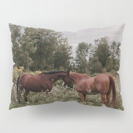 Horses in The Field Pillow Sham