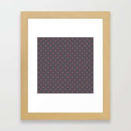 Pink and grey star pattern Framed Art Print