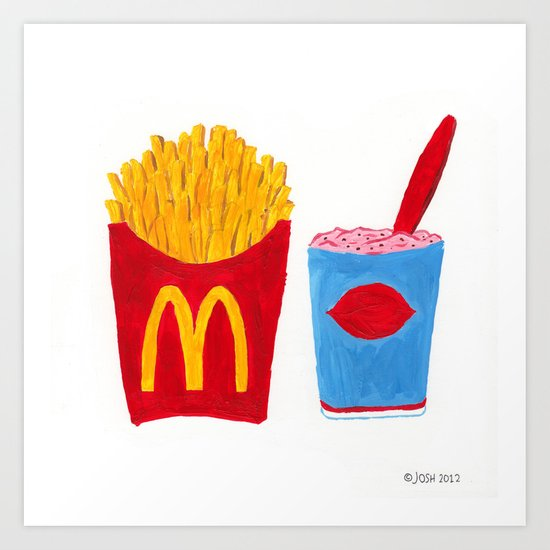 McD's & DQ Art Print