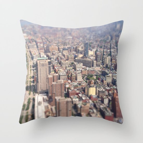Tiny City - New York City Throw Pillow