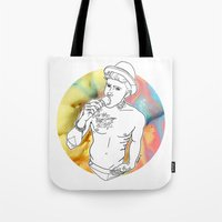 jake Tote Bags featuring Jake by vllancourt