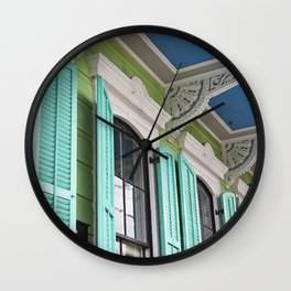 New Orleans Colorful Porch Wall Clock