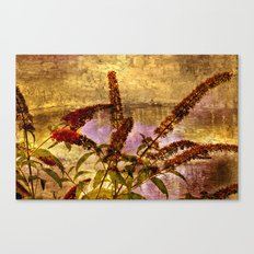 Wildflowers by the Pond Canvas Print
