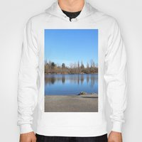 trout Hoodies featuring Trout Lake by RMK Photography
