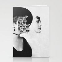 inner demons Stationery Cards featuring Inner Demons by Tyler Spangler