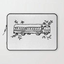 School Bus Illustration Skoolie Tiny Home Van Life Laptop Sleeve