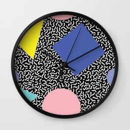 Memphis Pattern 2 Wall Clock