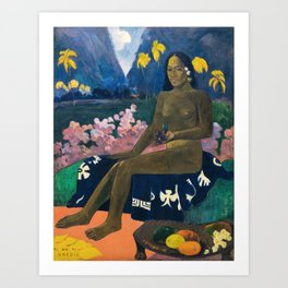 The Seed of the Areoi by Paul Gauguin Art Print