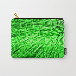 Green Pixel Wind Carry-All Pouch