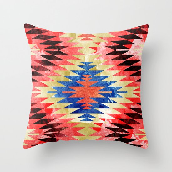 Painted Navajo Suns Throw Pillow