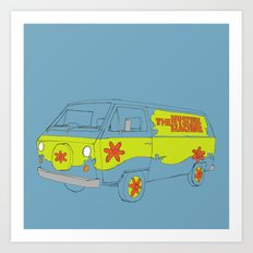 The Mystery Machine Art Print