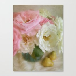 Roses & Pears Canvas Print