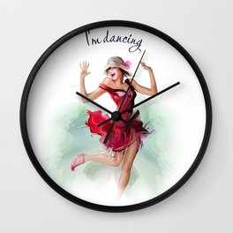 dancing ballerina3 Wall Clock