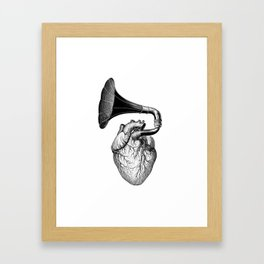 Hearthphone Music / olex oleole Framed Art Print