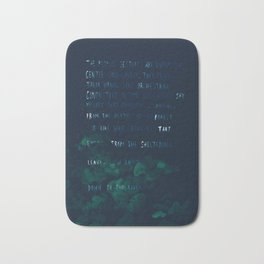 """""""Conquest of the Useless"""" by Werner Herzog Bath Mat"""