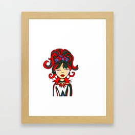 Style Girl Big Hair Framed Art Print