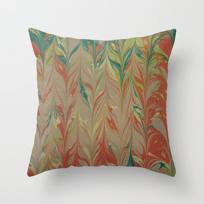 Marble Print #4 Throw Pillow