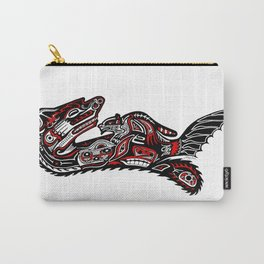 Haida Otter and Baby Carry-All Pouch