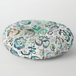 OM symbol pattern -Abalone shell on pearl Floor Pillow