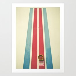Emergency Stop Art Print