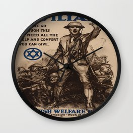 Vintage poster - National Jewish Welfare Board Wall Clock