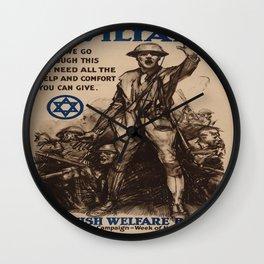 Vintage poster - National Jewish Welfare Board Wall Clock