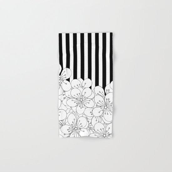 Cherry Blossom Stripes - In Memory of Mackenzie Hand & Bath Towel